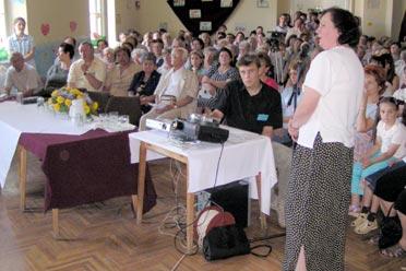 dr. Vörös Gabriella diavetítésel egybekötött előadása (Fotó: Képessy Bence)