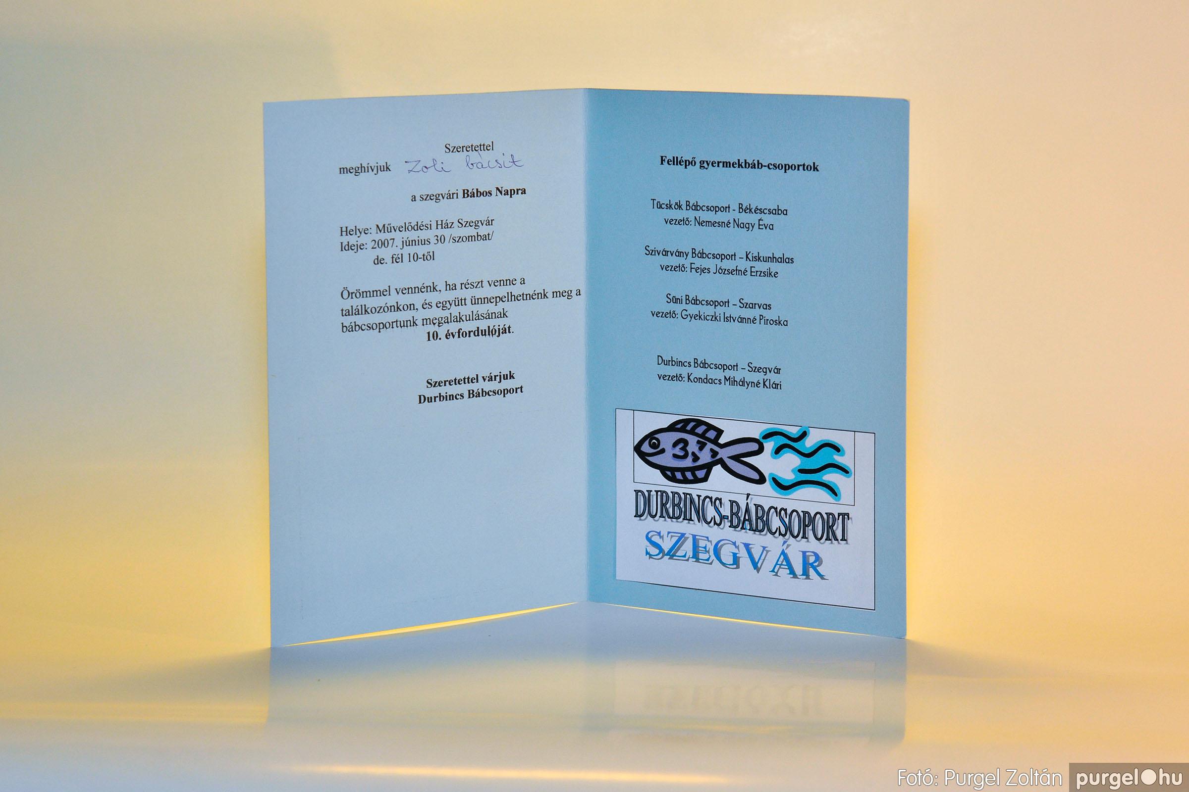 2007.06.30. 000 Durbincs Bábcsoport meghívó – Fotó:PURGEL